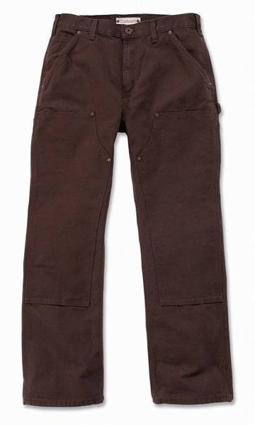 DOUBLE FRONT WORK PANT   DARK BROWN