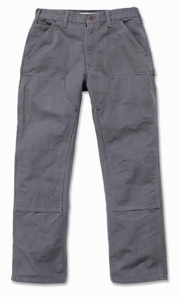 DOUBLE FRONT WORK PANT SZARY