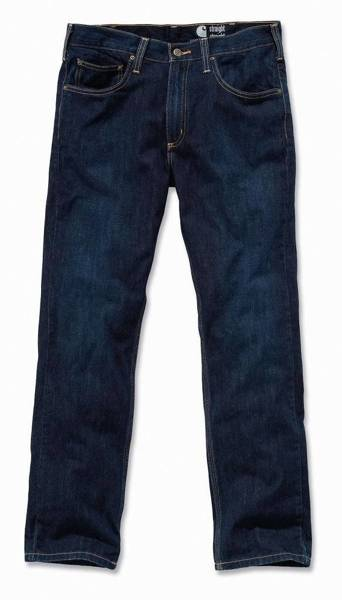 STRAIGHT FIT JEANS WEATHERED INDIGO